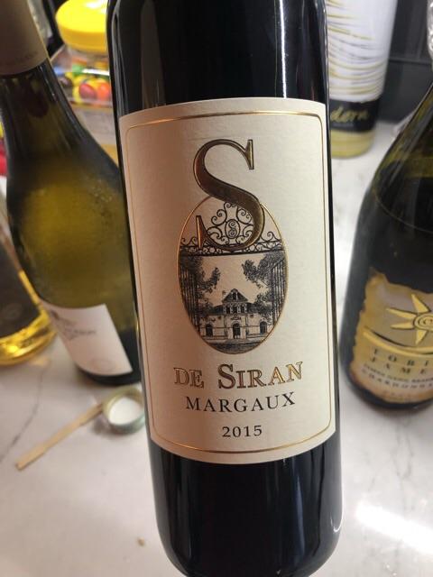 Château Siran - S de Siran Margaux - 2015
