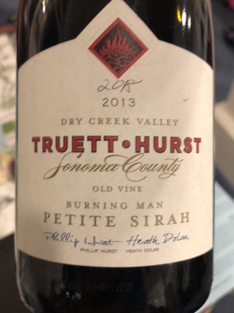 Truett-Hurst - Burning Man Old Vine Petite Sirah - 2013