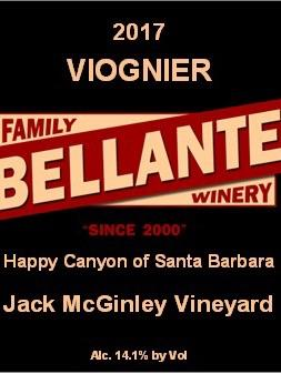 Bellante Family Winery - Viognier - Jack McGinley Vineyard - 2017