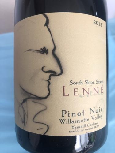 Lenné - South Slope Select Pinot Noir - 2015