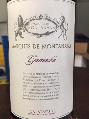 Marqués de Montañana - Garnacha - 2014