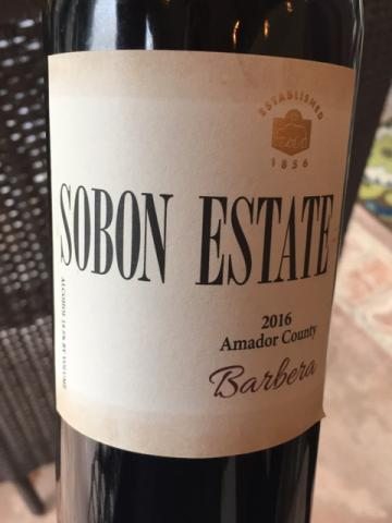 Sobon Estate - Barbera - 2016