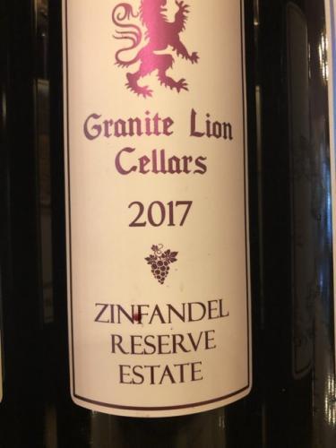 Granite Lion Cellars - Zinfandel Reserve Estate - 2017