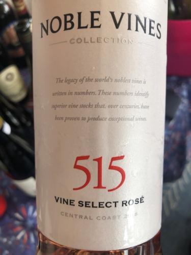 Noble Vines - 515 Rosé - 2017
