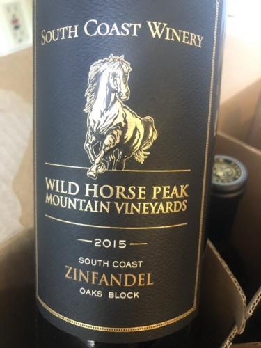 South Coast Winery - Wild Horse Peak Mountain Vineyards Oaks Block Zinfandel - 2015