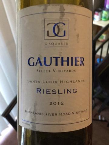 Gauthier Select Vineyards - Hillside Vineyard Riesling - 2012