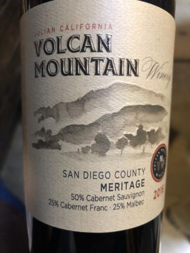 Volcan Mountain Winery - Meritage - 2016
