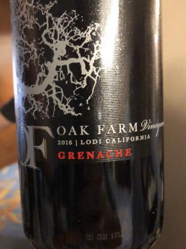 Oak Farm - Grenache - 2016