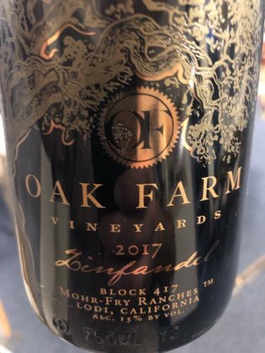 Oak Farm - Zinfandel - 2017