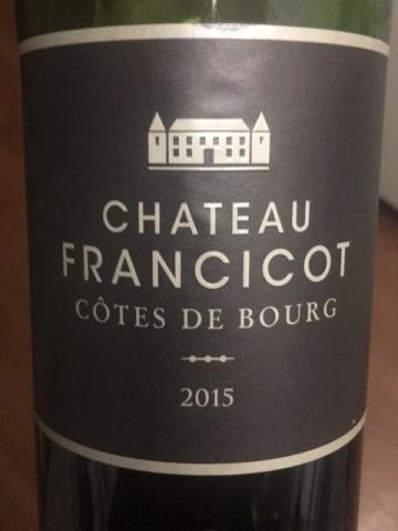 Château Francicot - Côtes de Bourg - 2015