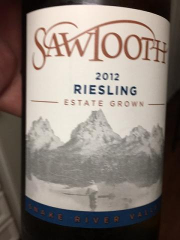 Sawtooth - Riesling - 2012