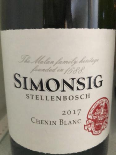Simonsig - Chenin Blanc - 2017
