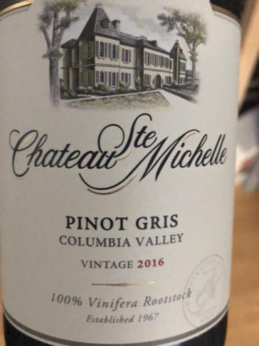 Château Ste. Michelle - Pinot Gris - 2016
