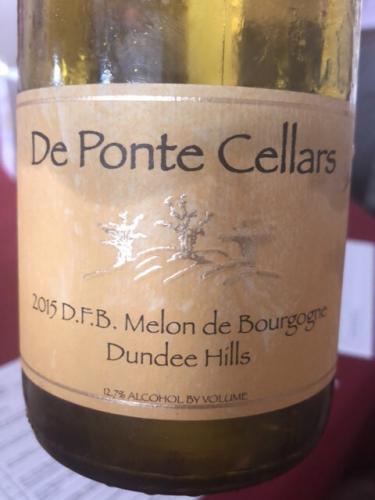 De Ponte - DFB Melon de Bourgogne - 2015