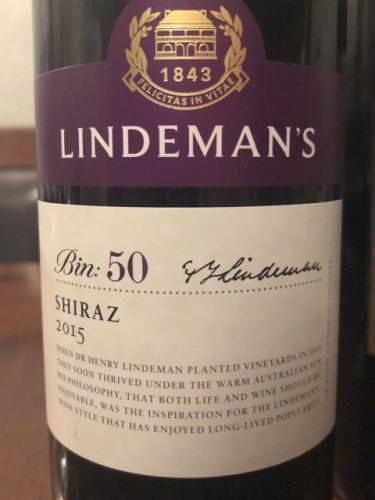 Lindemans - Bin 50 Shiraz - 2015