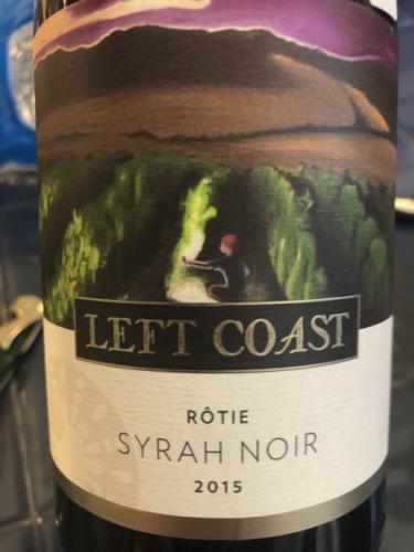 Left Coast Cellars - Rôtie Syrah Noir - 2015