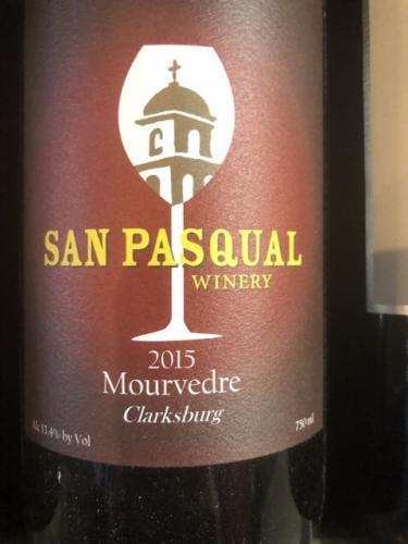 San Pasqual Winery - Mourvèdre - 2015