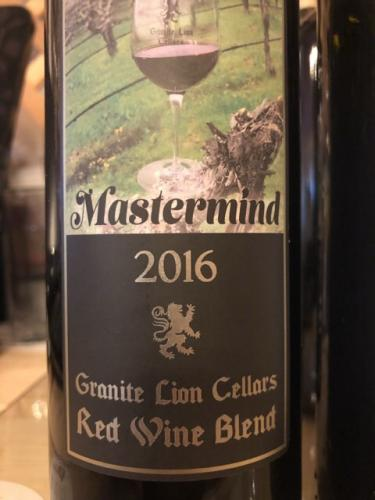 Granite Lion Cellars - Mastermind - 2016