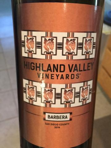 Highland Valley - Barbera - 2014