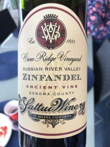 V. Sattui - Crow Ridge Vineyard Ancient Vine Zinfandel - 2015