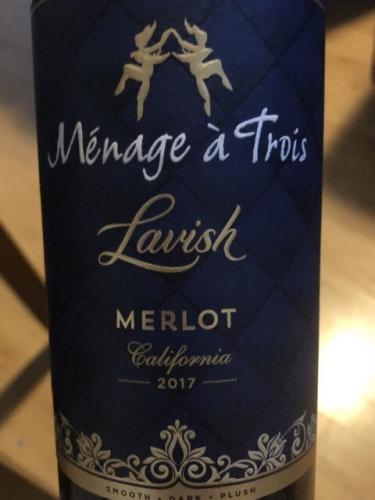 Ménage à Trois - Merlot - 2017