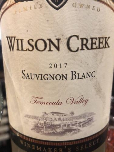 Wilson Creek - Winemaker's Select Sauvignon Blanc - 2017