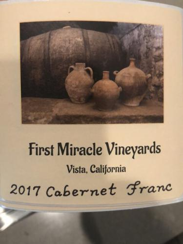 First Miracle Vineyards - Cabernet Franc - 2017