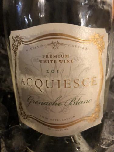 Acquiesce - Picpoul Blanc Premium White - 2017