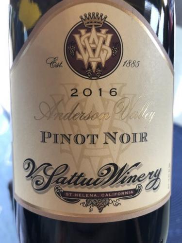 V. Sattui - Pinot Noir Los Carneros - 2016