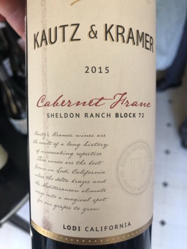Kautz & Kramer - Sheldon Ranch Block 72 Cabernet Franc - 2015