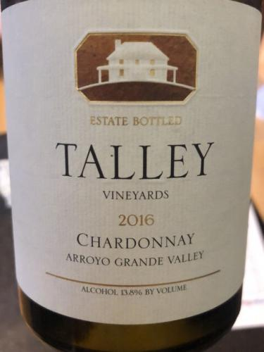 Talley Vineyards - Estate Chardonnay - 2016