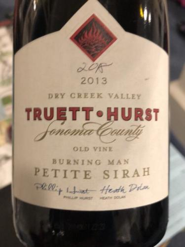 Truett-Hurst - Burning Man Old Vine Petite Sirah - 2013