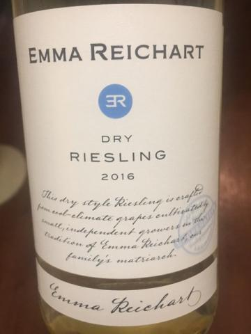 Emma Reichart - Riesling Dry - 2016