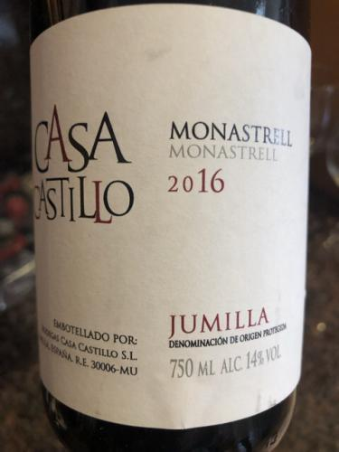 Casa Castillo - Monastrell - 2016