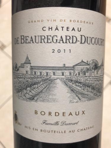 Château de Beauregard-Ducourt - Bordeaux Rouge - 2011