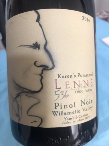 Lenné - Karen's Pommard Pinot Noir - 2016