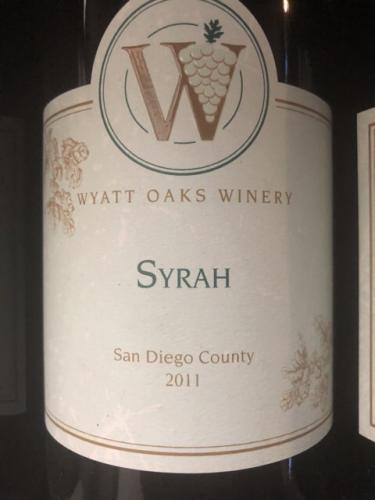 Wyatt Oaks Winery - Syrah - 2011