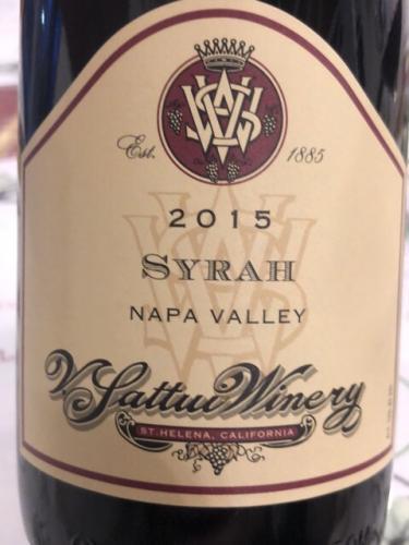 V. Sattui - Napa Valley Syrah - 2015