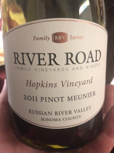 River Road - Hopkins Vineyard Pinot Meunier - 2011