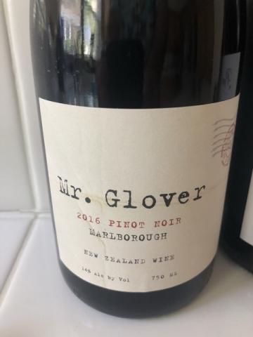 Mr. Glover - Pinot Noir - 2016