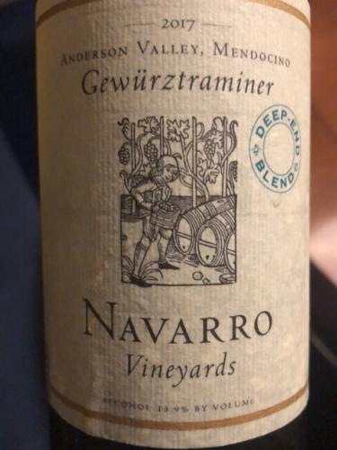 Navarro Vineyards - Dry Gewürztraminer - 2017