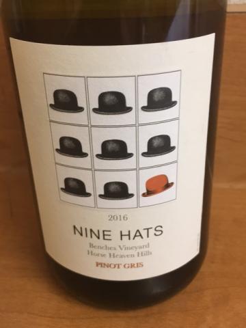Nine Hats Wines - Pinot Gris - 2016