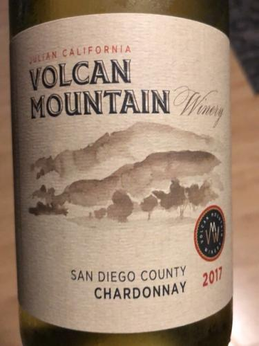 Volcan Mountain Winery - Chardonnay - 2017