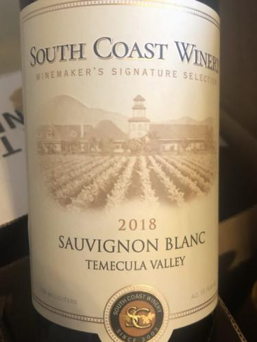 South Coast Winery - Sauvignon Blanc - 2018