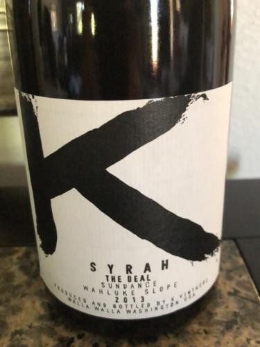 K Vintners - The Deal Syrah - 2014