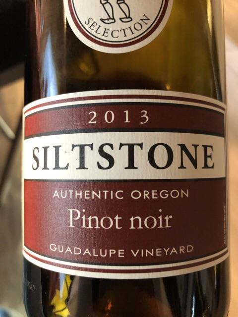 Siltstone Wines - Guadalupe Vineyard Pinot Noir - 2013