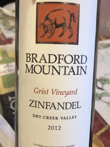 Bradford Mountain - Grist Vineyard Zinfandel - 2012