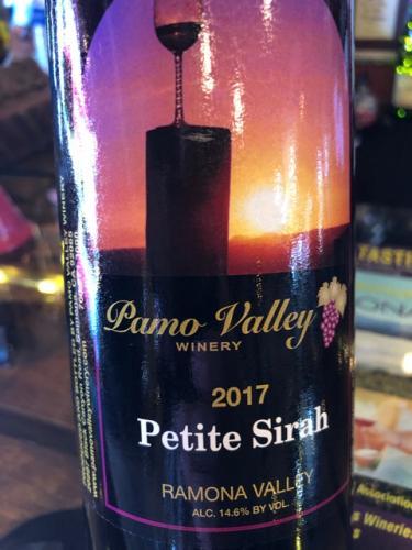 Pamo Valley - Petite Sirah - 2017