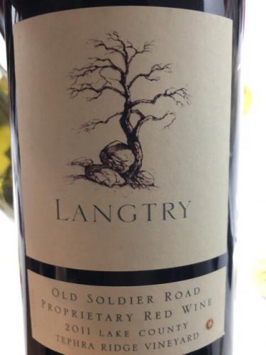 Langtry Estate - Old Soldier Road Tephra Ridge Vineyard Proprietary Red - 2011