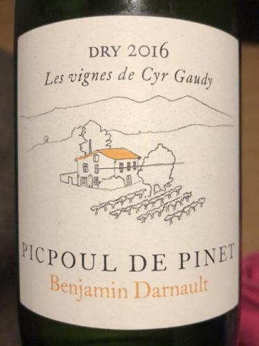 Benjamin Darnault - Picpoul De Pinet Dry - 2016